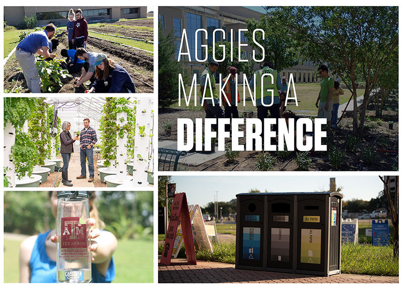AGF projects around campus demonstrate how Aggies can make a difference.